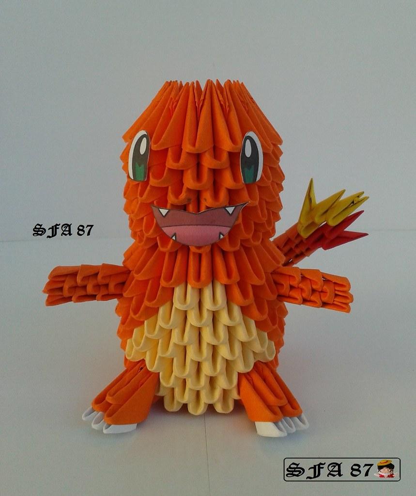 3d Origami Gir From Invader Zim By Jewellia Via Flickr Roselia Diagram Pokegami On Deviantart Charmander Pokemon