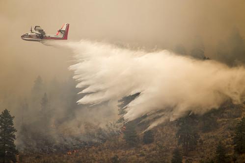 A firefighting aircraft