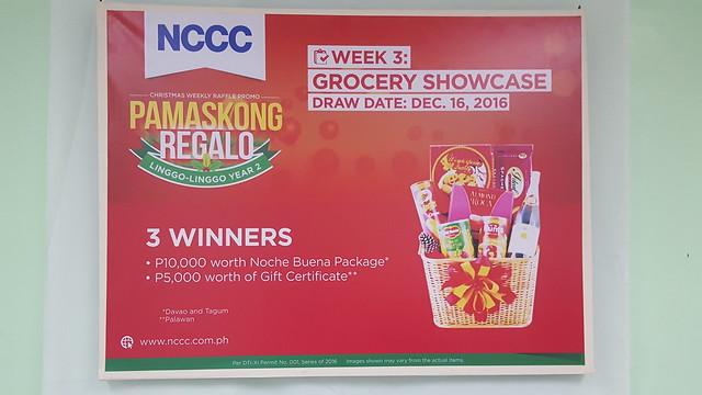 Week 3: Grocery Showcase | NCCC's Pamaskong Regalo, Linggo-linggo Christmas Raffle Promo Year 2 - DavaoLife.com