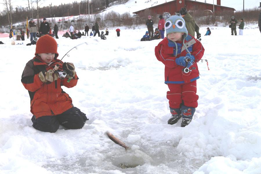 Here fishy fishy ice fishing hillberg lake credit for North dakota ice fishing reports