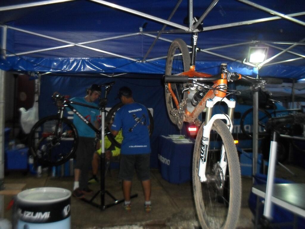 A manutenção das bikes funcionando a mil