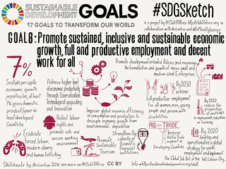 Goal 8. Decent Work and Economic Growth | by xLontrax