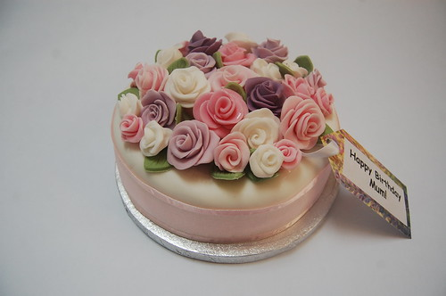 Quite simply one of our prettiest cakes to date - available in many flavours, sizes and colours and appropriate for many celebrations! The Romantic Rose Cake - from £60.