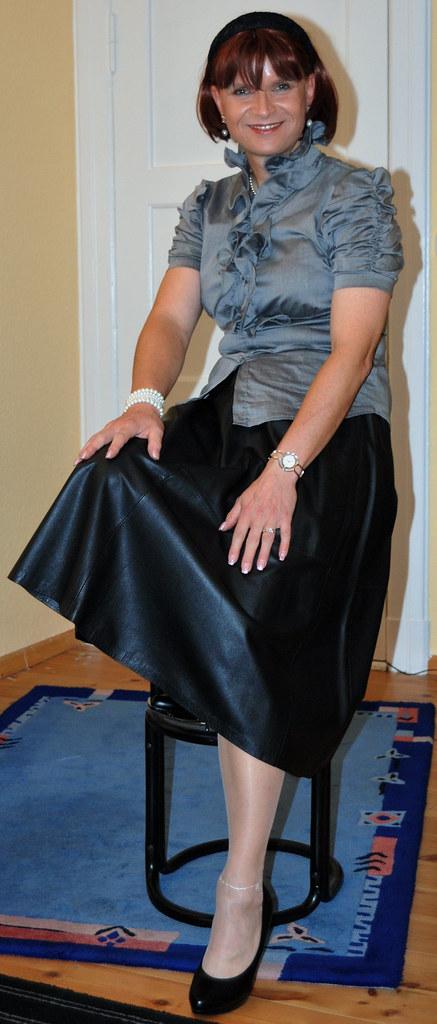 Leather Skirt Lederrock Me At My Friend Birgit In