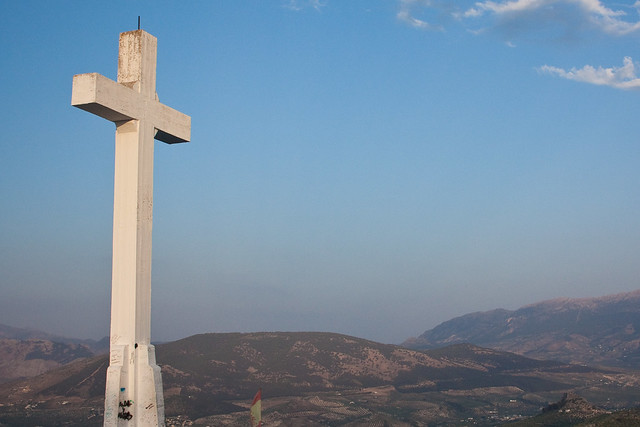 Cross overlooking Jaen, Spain