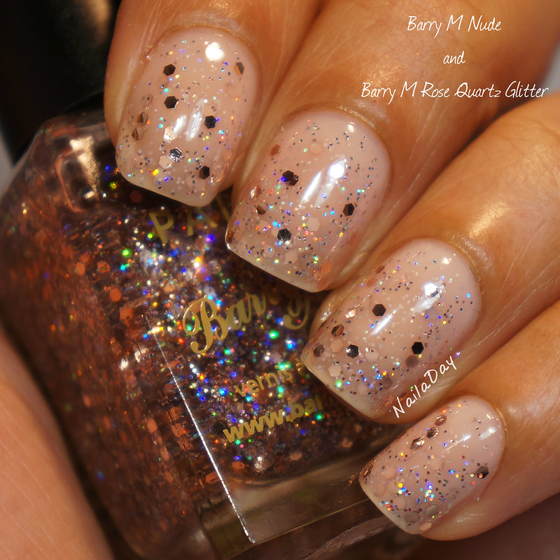 NailaDay: Barry M Nude and Barry M Rose Quartz Glitter