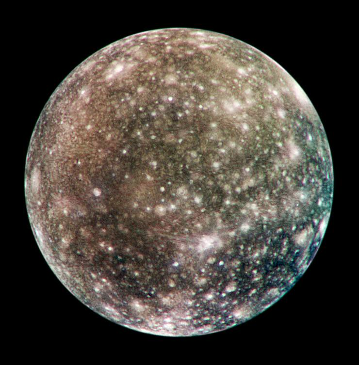 Callisto Moon Surface Cratered Moon Callisto