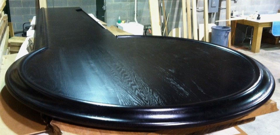 ... HardwoodsIncorporated Custom Curved Bar Top U0026 Rails | By  HardwoodsIncorporated