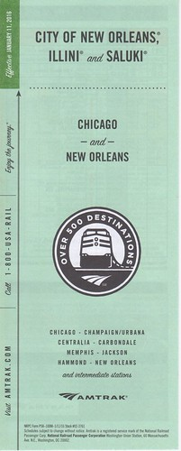 Amtrak City of New Orleans 2016 Cover