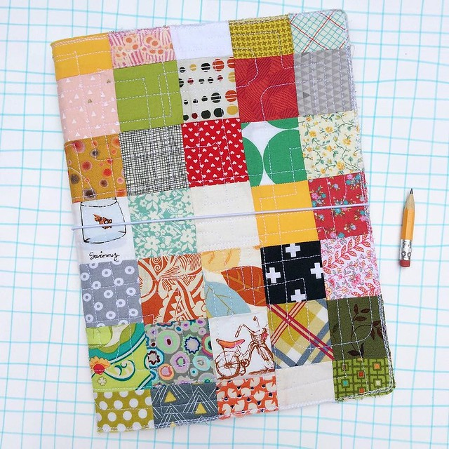 Day 79/100 #robayre100days one last XL quilted fauxdori, these square patches made from random fabrics in my fabric collection. I love tiny patterns, as you may be able to tell. #the100dayproject