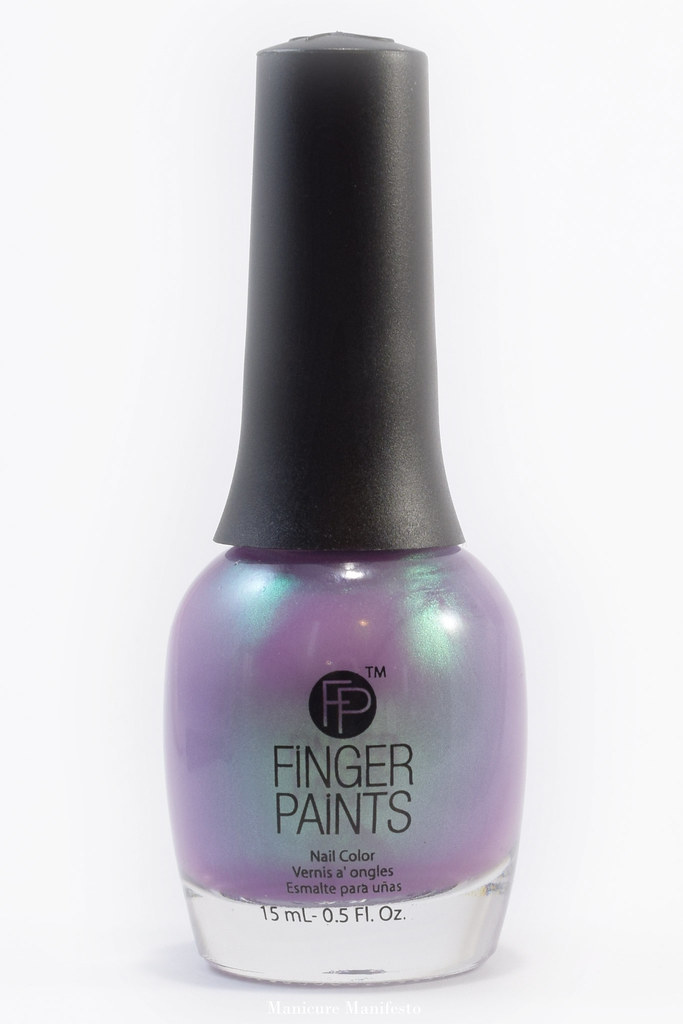 Purple nail polish with green shimmer