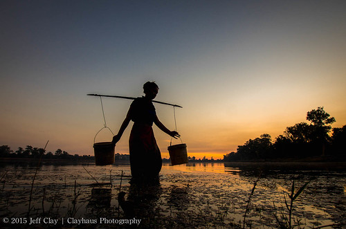 Srah Srang Sunrise: The Water Carrier | by clayhaus