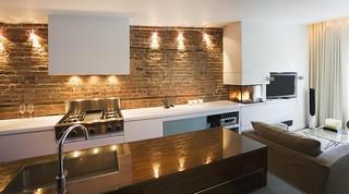 Small Studio Apartment Brick Amazing Design | By Wallsauto ...