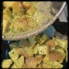 #Basil #Pignoli #Pesto #Potatoes #Homemade #CucinaDelloZio - mix well and toss in pan