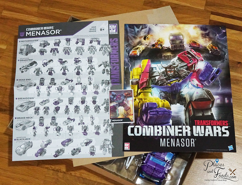 TRANSFORMERS Combiner Wars Menasor manuals