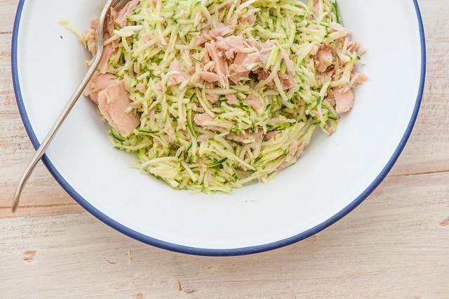super moist zucchini & tuna salad