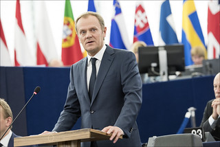 President of the European Council Donald Tusk during a debate on the last EU summit | by European Parliament