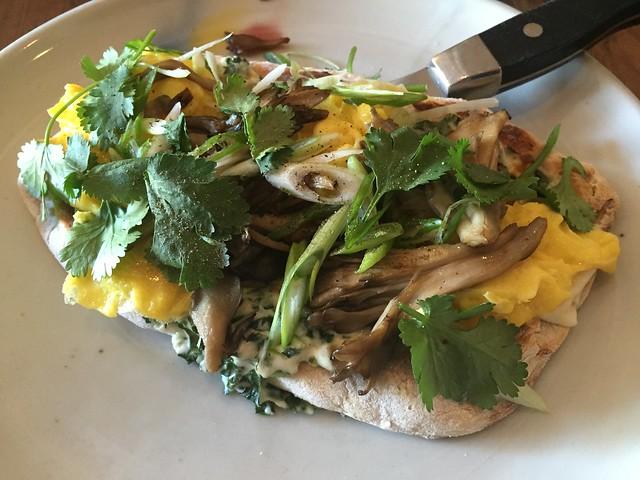 Mushroom flatbread - Bar Tartine