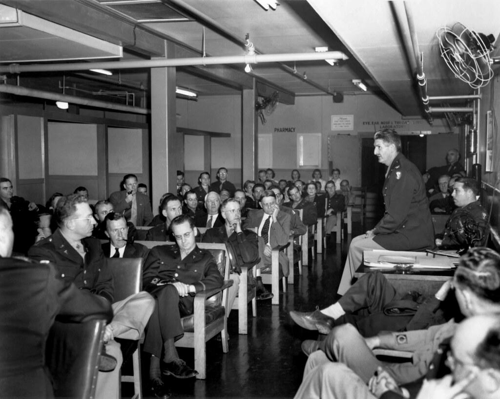 Col  S L  Warren, Oak Ridge Hospital Staff Meeting 1945 | Flickr