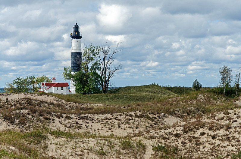 Big Sable Point Light From the Dunes