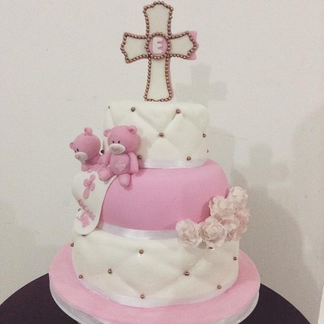 Para el bautizo de una ni a muy especial cake torta bau for Decoracion para bautizo nina