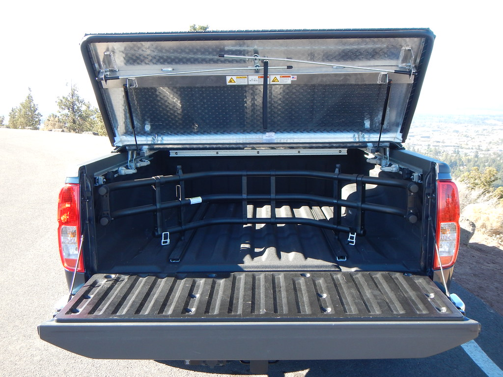Hard Truck Bed Cover On A Nissan Frontier A Rugged Black