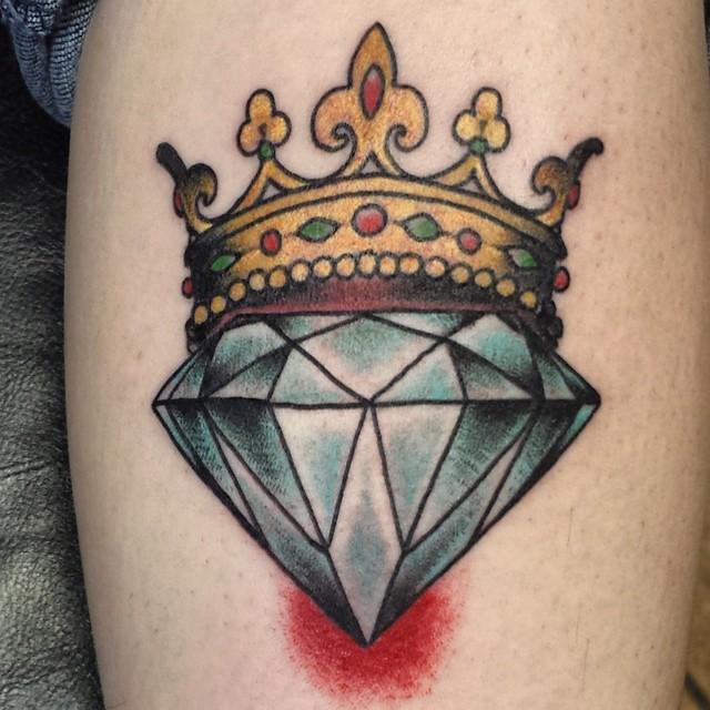 Queen Of Diamonds Tattoo Diamond queen #...