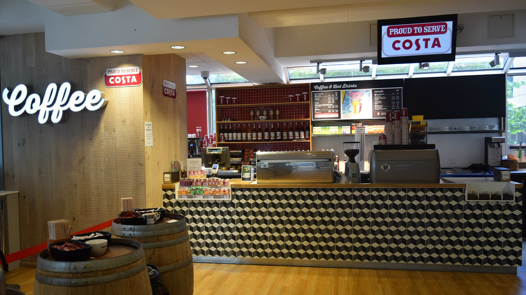 Costa Coffee counter