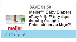 picture about Meijer Printable Coupons named $3.49 Meijer Brand name Diapers with Printable Coupon Thursday