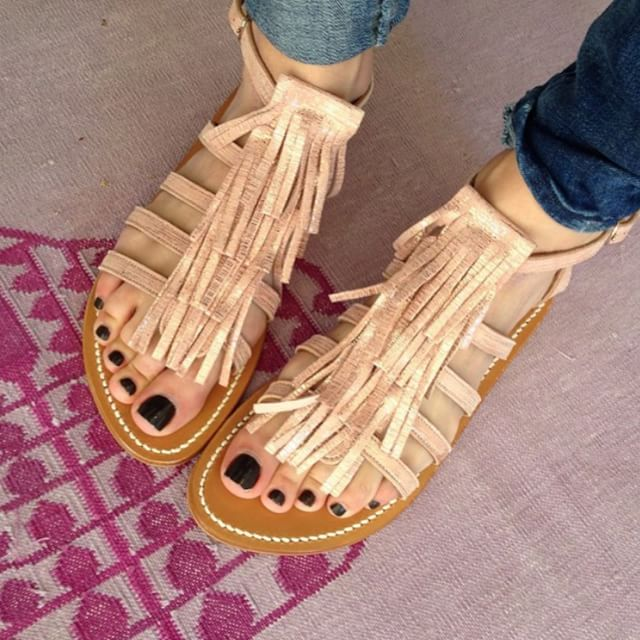 Free Shipping Clearance K jacques Fringed sandals Clearance Get Authentic v2rWU0g
