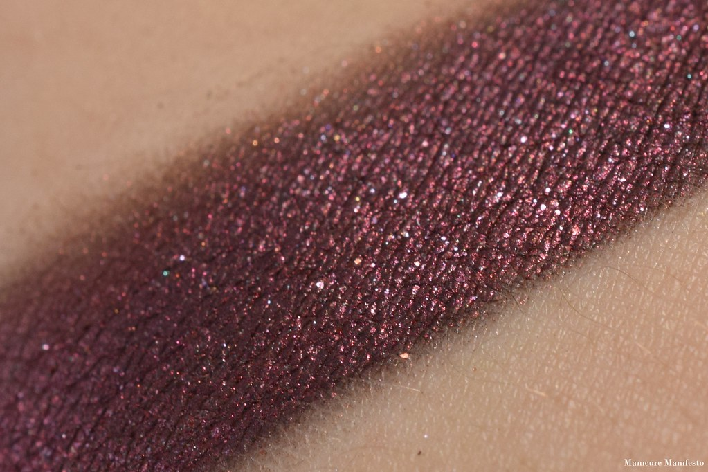 Burgundy eyeshadow