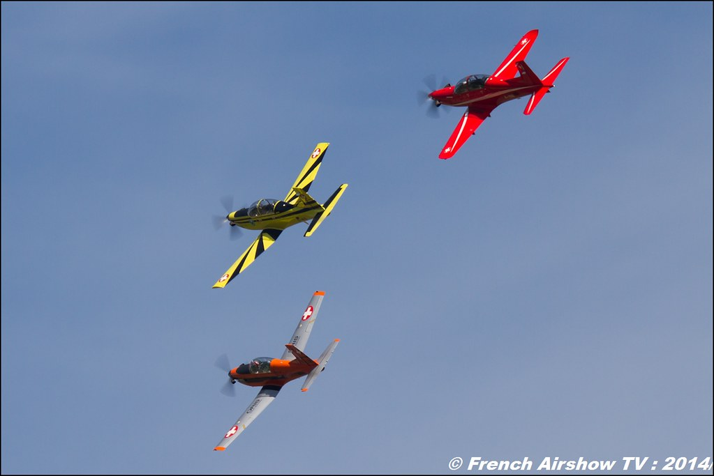 Pilatus Aircraft , PC-21 , PC-7 , PC-9 , AIR14 Payerne , suisse , weekend 1 , AIR14 airshow , meeting aerien 2014 , Airshow