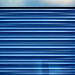 Garage door - blue