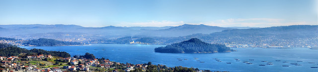 Panoramica de la Ría de Pontevedra