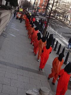 Protesting to close Guantanamo