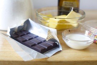 chocolate, butter, sugar, milk, vanilla for frosting | by smitten kitchen