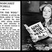 """16th August 1949 - Death of Miss Margaret Mitchell (author of """"Gone With The Wind"""")"""