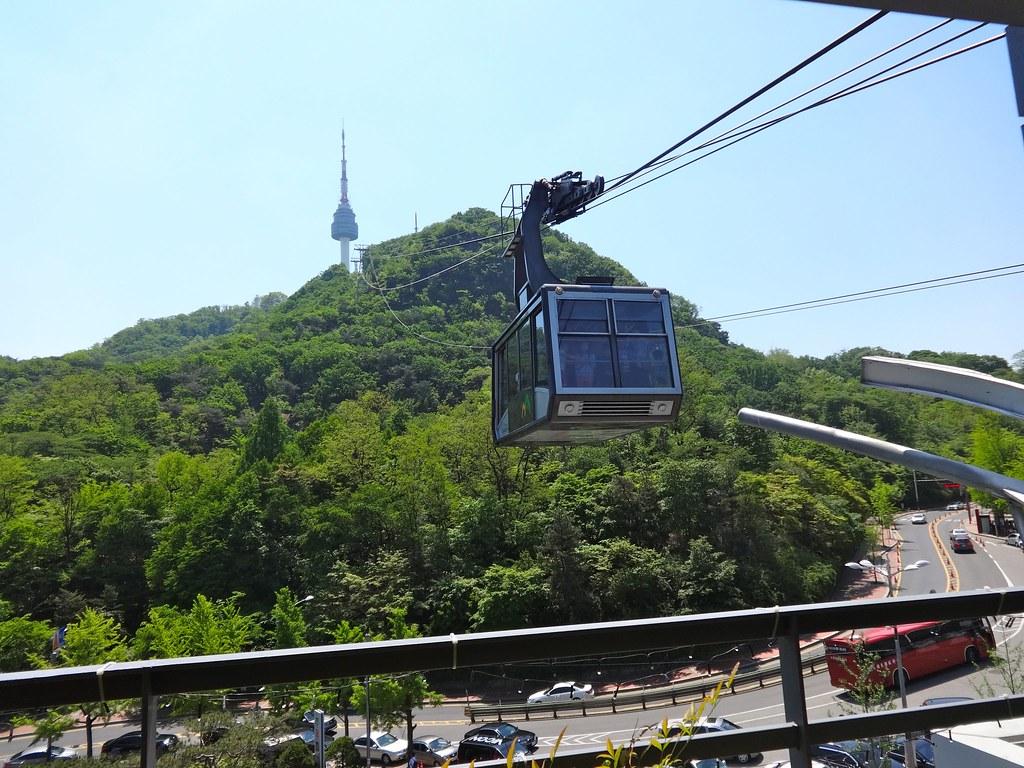 Namsan cable car -  Seoul Namsan Cable Car By Jean Nathalie
