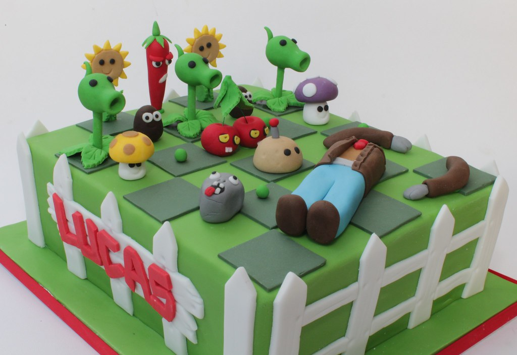 Plants Vs Zombies Birthday Cake Toppers