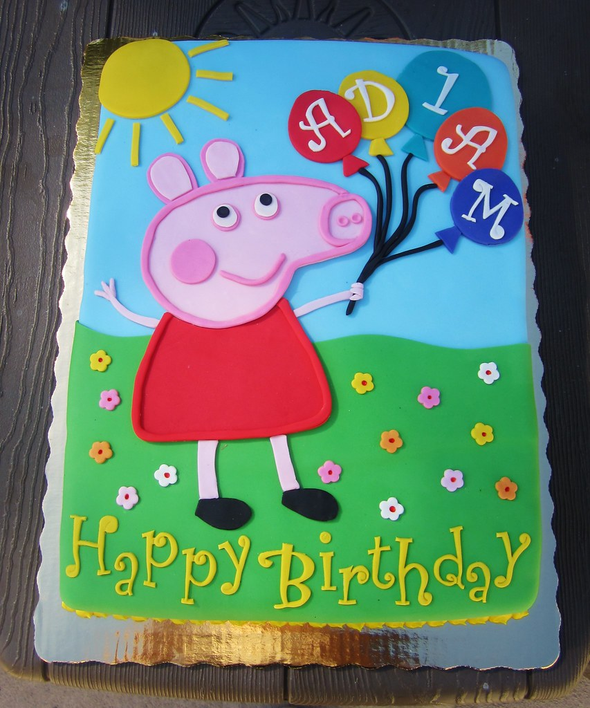 Peppa Pig Birthday Cake Daniyellee Flickr