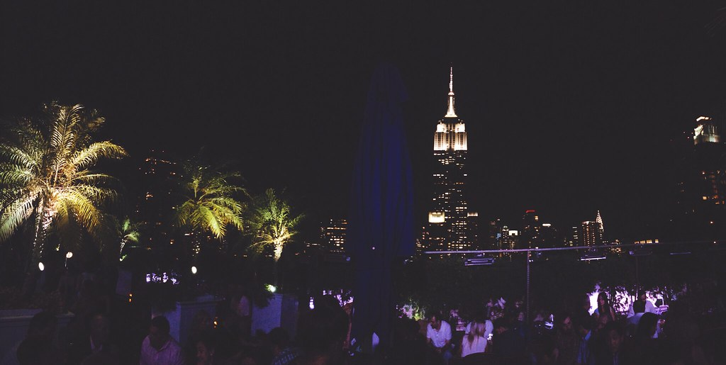 Nighttime views from 230 on Fifth rooftop bar in New York | via It's Travel O'Clock