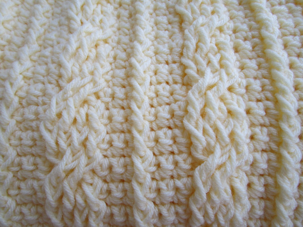 Crochet Cables Blanket Pattern Available Here Etsy Flickr