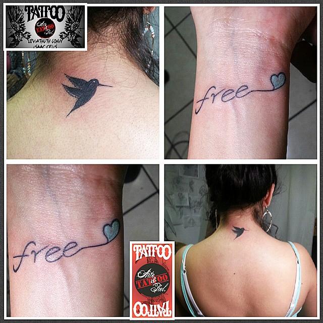 2x1 Colibri Free Nuca Muñeca Tattoo Tattooarteypiel Flickr