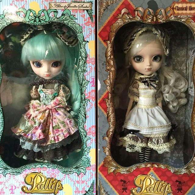 Alice du jardin mint and classical alice sepia pullip for Alice du jardin pullip