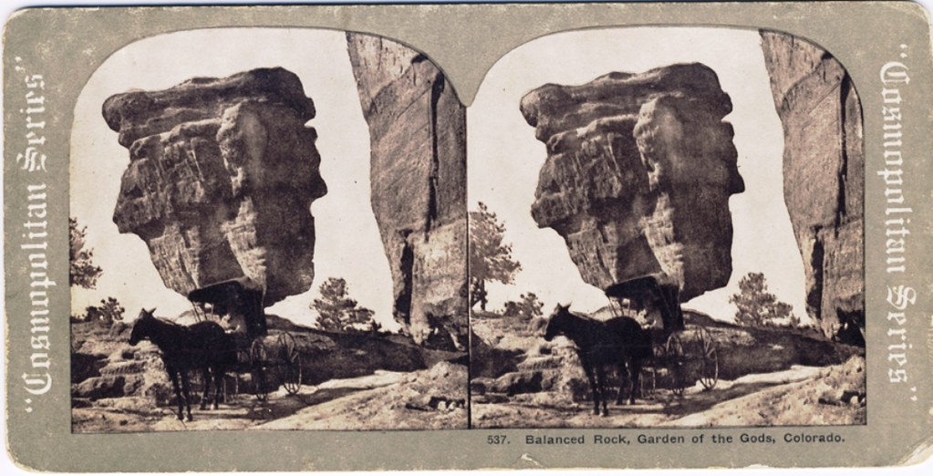 Balanced Rock Garden Of The Gods Colorado Usa Vintage S Flickr