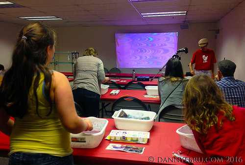 Portland Mini Maker Faire - Paper Marbling Workshop