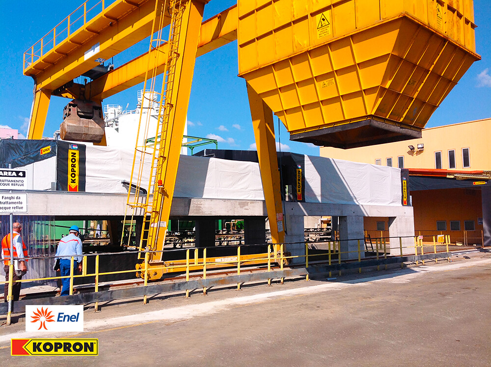 Kopron retractable pvc warehouses capannoni retrattili for Kopron capannoni