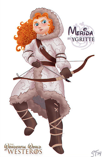 Disney Princesses vs Game of Thrones by DjeDjehuti - Merida as Ygritte