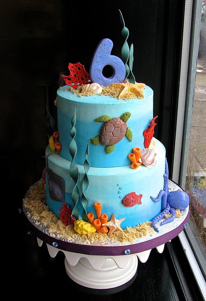 Under The Sea Birthday Cake The Customer Requested Lots Of Flickr