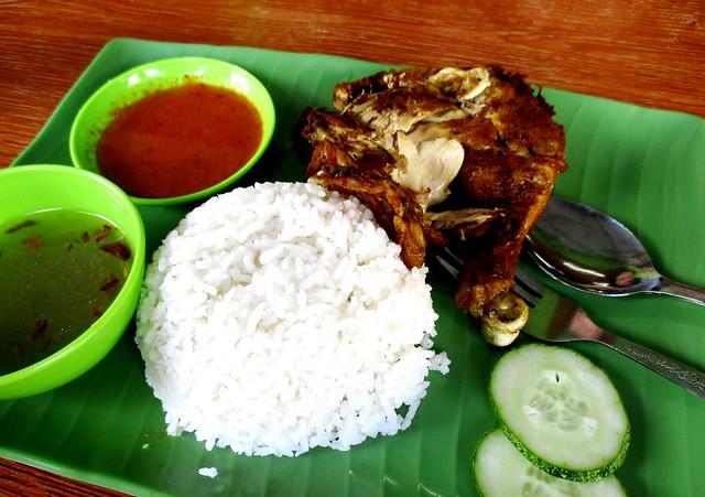 Nasi ayam penyet 1